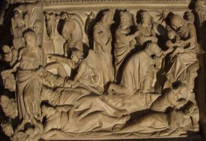 Particolare della adorazione dei Magi  Pulpito Giovanni Pisano